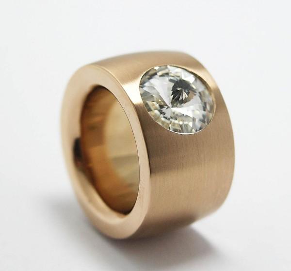 Ring Rosegold Swarovskistein Weiß Crystal