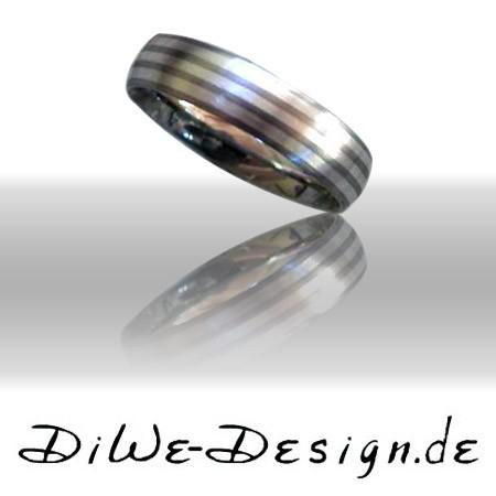 Titanring mit Silbereinlage