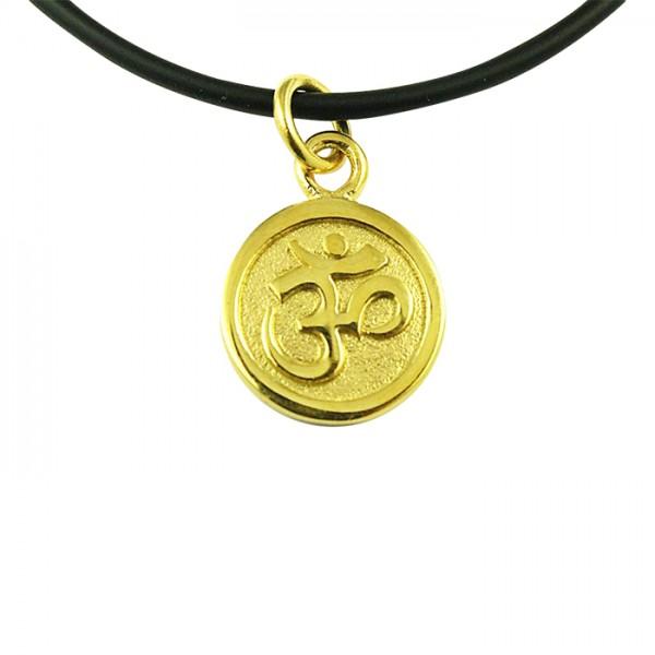 Edelstahlanhänger OM Symbol Gold PVD