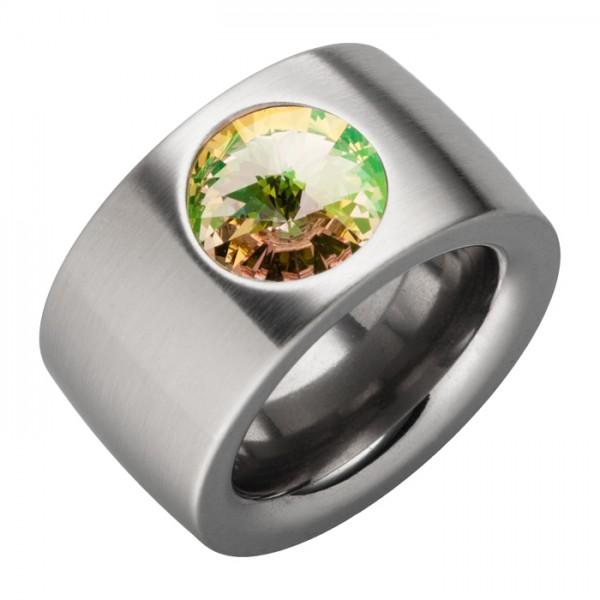 Ring Swarovskistein Luminous Green