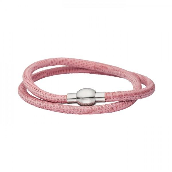 Nappalederarmband alt rosa