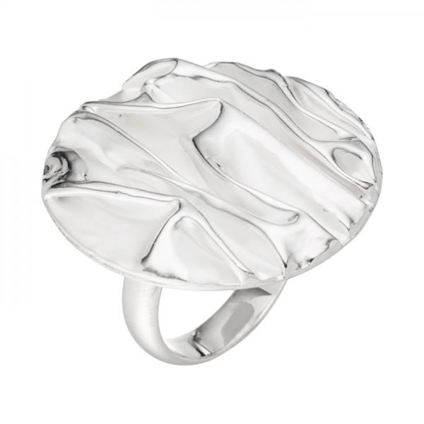 Silberring mit Faltenmuster