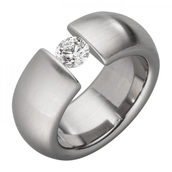 Ring mit 5 mm großem Zirkoniastein