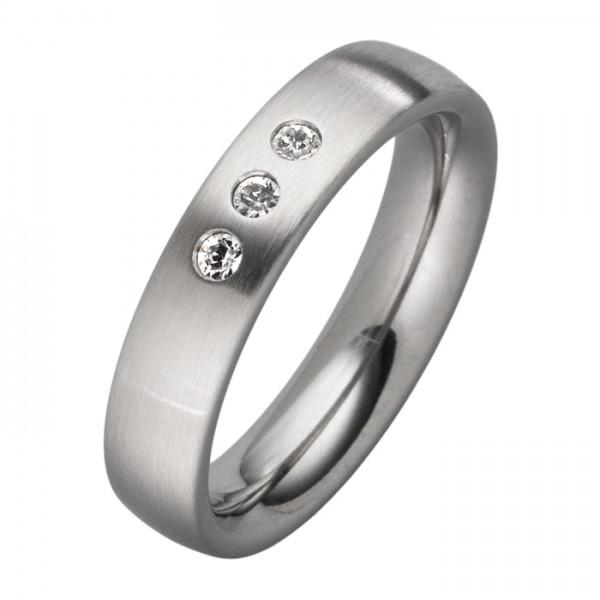 Schlichter Ring mit 3 Zirkonia