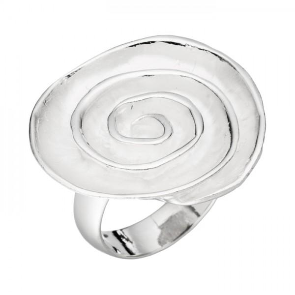 Silberring Spiralplatte matt/poliert