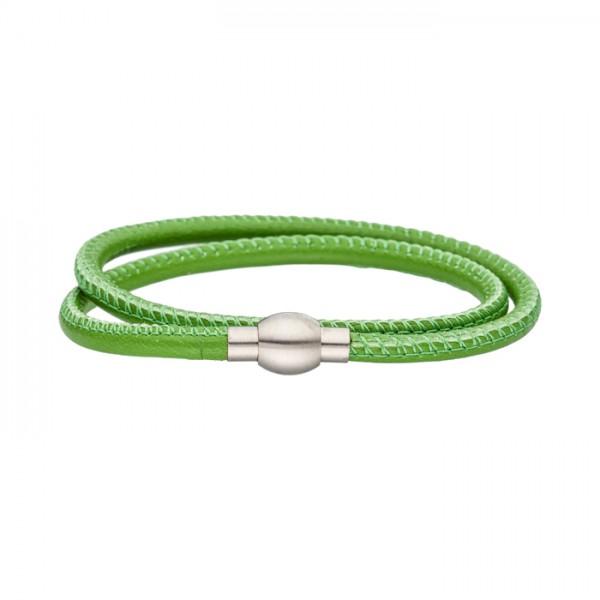 Nappalederarmband grün Magnetverschluss