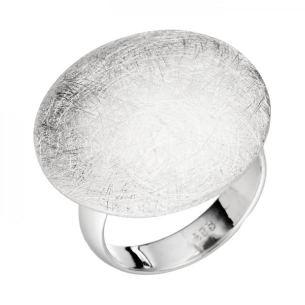 Silberring eismatt Pilzform