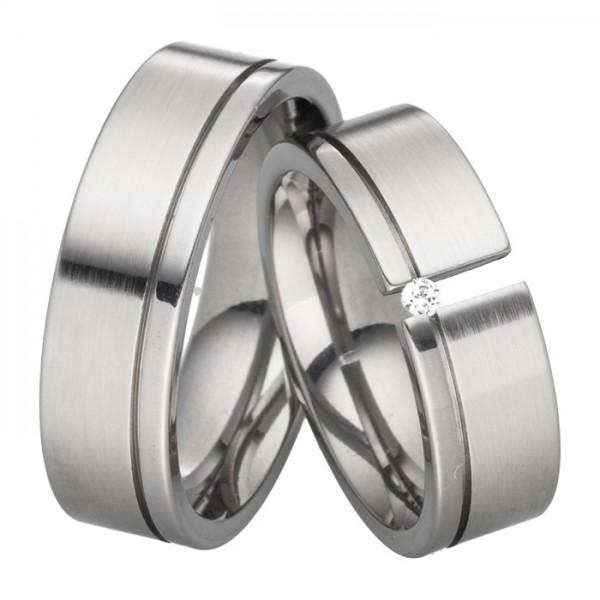 Trauringe Diamant 7mm breit Typ1