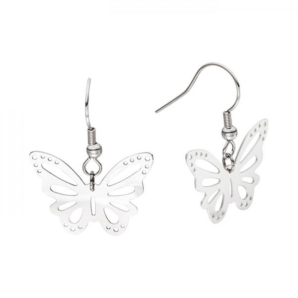 Edelstahl-Ohrring Schmetterling Motiv