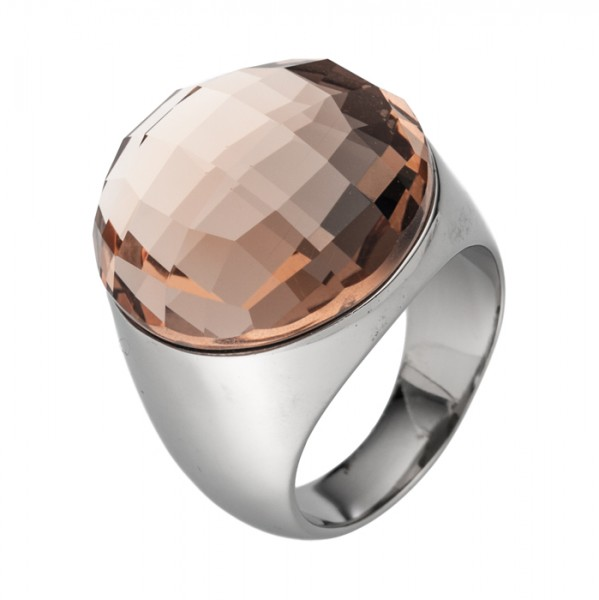 Stahlring Kristallglas 4 Farben Auswahl