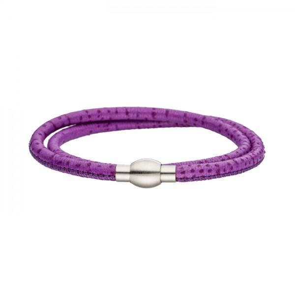 Nappalederarmband lila Magnetverschluss