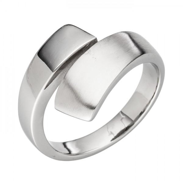 Gedrehter Edelstahl Design Ring