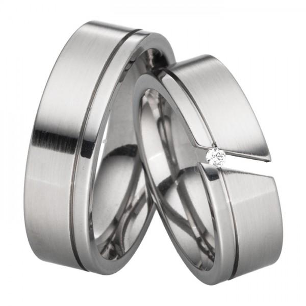 Trauringe Diamant 7mm breit Typ2