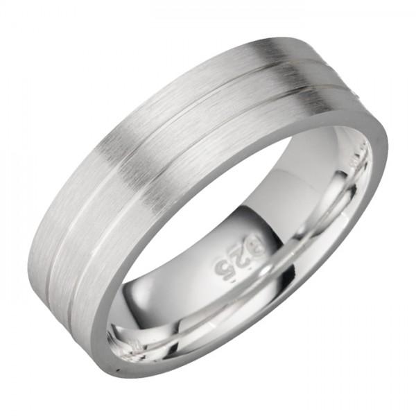 7 Millimeter breiter Silberring, schlichtes Design
