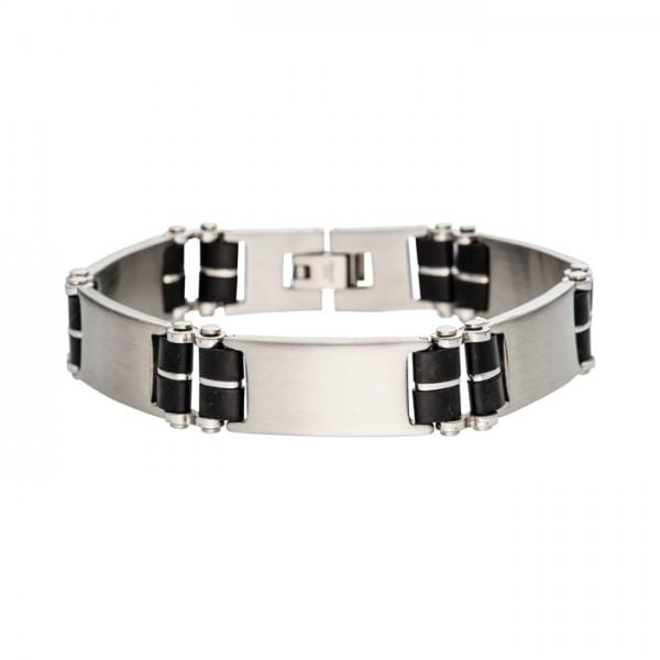 Armband 12mm breit mit Kautschuk
