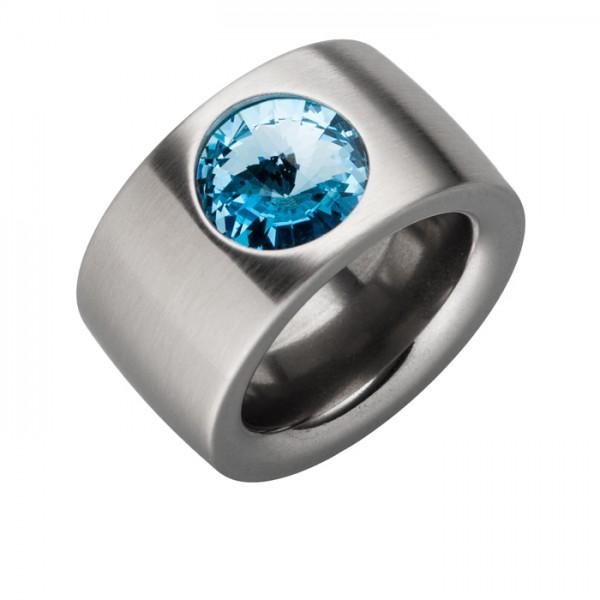Ring Swarovskistein Aquamarin