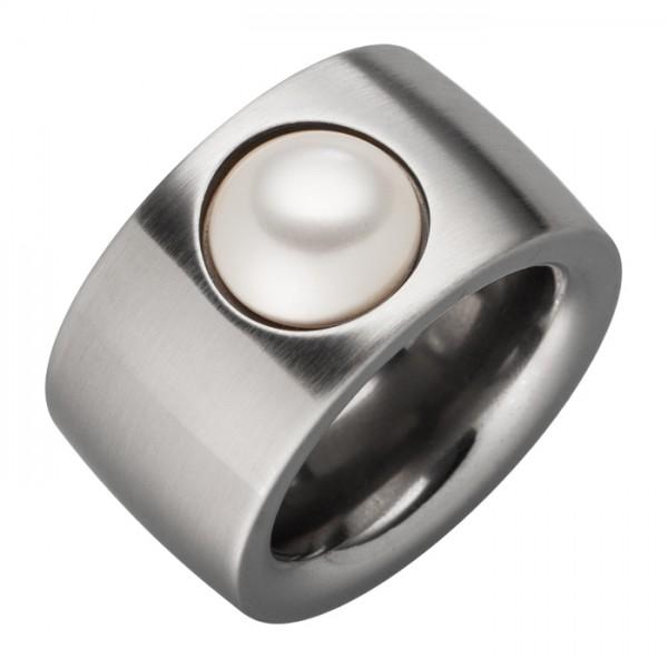 Ring weiße Swarovski Perle