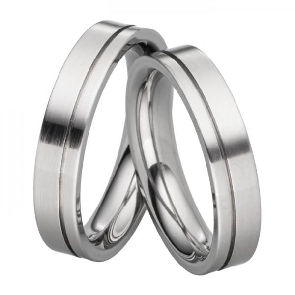 Stahltrauringe 5 mm breit - schlicht & edel