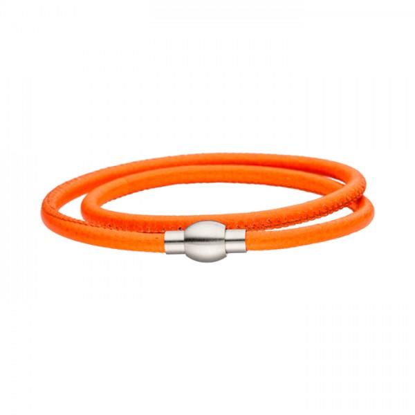 Nappalederarmband orange Magnetverschluss