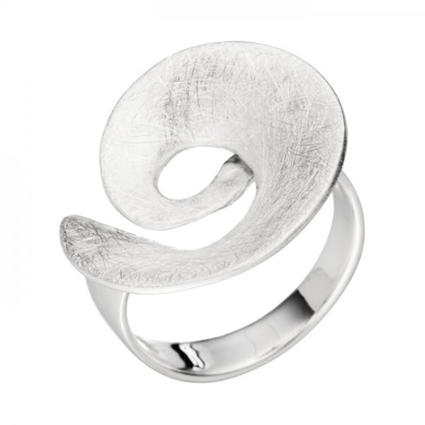 Silberring Spirale eisgekratzt